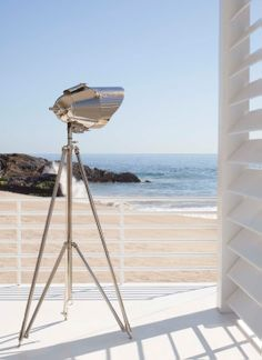 Ralph Lauren Cutter Tripod Lamp in Polished Nickel