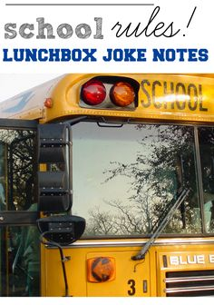 school rules lunchbox joke notes --> Print these NOW! your kids will *love* 'em! (and they're a great way to get them reading at lunchtime!)