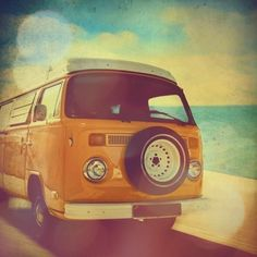 Art for my son's VW Van themed room: VW photo  4x4 fine art Surfer Van by elgarboart on Etsy, $6.00