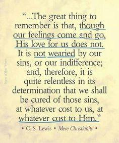 His love endures...