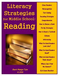 Middle Schoolers are still learning HOW to read well and they need grade-appropriate strategies! These anchor charts and student bookmarks are created specifically to teach reading strategies to adolescents! Special attention is paid to close reading, metacognition, and repairing reading when meaning breaks down. Using these in all subject areas will help students transfer their ELA skills to content classes. Teaching Tips, Learning Objectives, and Common Core State Standards all included. $9.60
