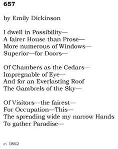 emily dickinson poem essay topics