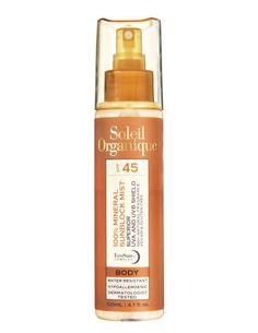Soleil Organique 100% Mineral Sunscreen Mist for Body SPF 45 ($42), soleilorganique.com
