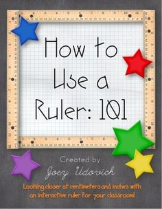 """An 8' 8"""" printable ruler for your classroom!  It comes with detailed pictures and posters to help your students master measurement!"""