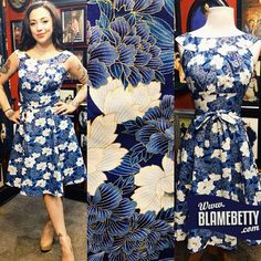 This drop dead gorgeous stunner is perfect for a summer wedding.. or any tuesday afternoon if you ask me #blamebetty #pinupstyle #retro