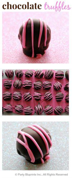Easy Homemade Chocolate Truffle Valentine's Day Recipe! #valentines #plantoparty