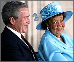 """Dr. Dorothy Height - developed a multitude of educational programs and policies, including """"Wednesdays in Mississippi"""" which allowed for interracial dialogue between women of the North and South. She has been inducted into the National Women's Hall of Fame and received the Congressional Medal of Honor."""