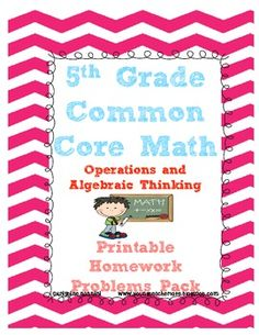 **This is a preview for a LARGE homework packet coming soon!!! 5th Grade Homework- Operations and Algebraic Thinking