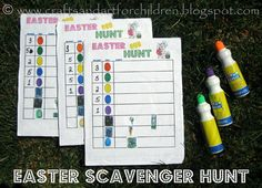 Crafts~N~Things for Children: Free Printable Easter Scavenger Hunt