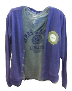 As fall approaches, so do cooler night temperatures.  Stop by the JMU Bookstore and pick up a new Madison t-shirt & a cardigan for game day to keep warm once the sun goes down!