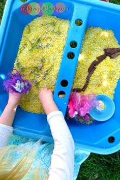Sensory Play with Lemon Scented Rice