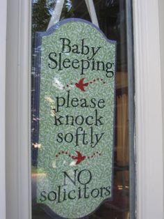 baby sleeping sign <3