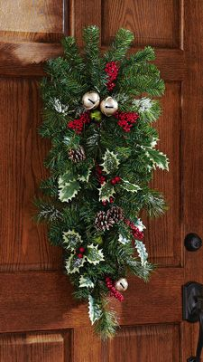 Jingle Bells Christmas Holiday Decorative Door Swag