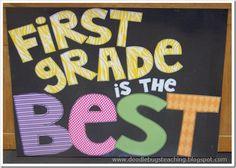 First Grade is the Best www.doodlebugsteaching.blogspot.com