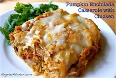 Gluten-Free, Dairy-Free Pumpkin Enchilada Casserole with Chicken