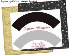 Free Digital Cupcake Wrapper