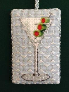 Darning stitch--martini!