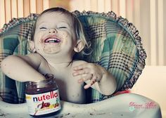 Baby + nutella (: