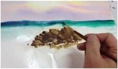Learn How to Paint Watercolor Waves - Follow a free, ten munite video lesson by SuperBeeza.