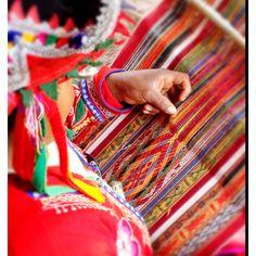 Peruvian weaver, Cusco, Peru