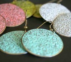 Painted Patina Earrings