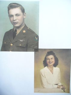 The Lady Be Good, the Air Force mystery B-24 bomber from World War II, crashed in the Libyan desert in 1943; its crew was never heard from again. The plane's wreckage was discovered in 1960. Harold Ripslinger had been aboard.  This is a picture of Harold and the girl he left behind when he went off to war. Check out the tragic story of the plane and its crew members. Click on the picture.