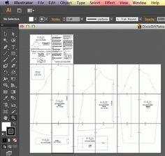 Using Illustrator for pattern drafting