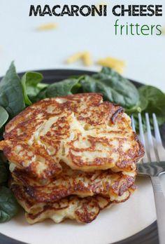 Macaroni cheese fritters? Yum!