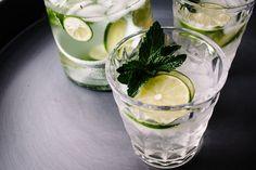Lemongrass Mint Lime Spritzers by @Stephanie Close le | i am a food blog | west elm