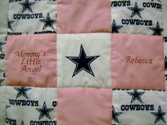 Dallas Cowboy's Quilt for Girls ♡ Adore this.