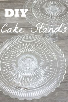 How to make DIY cakestands with thrift store finds!!