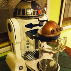 R2-D2 adds making a cup of joe to his maintenance duties