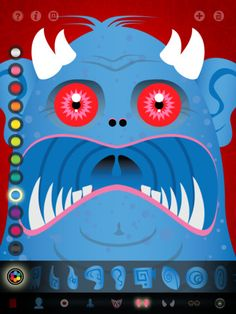 With the Create a Monster HD app, students can create digital monsters…it has symmetry tool and offers a variety of fun shapes and textures
