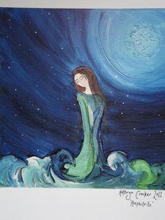 Sea Goddess a4 Hand signed & mounted fine art by KathrynCrocker, $20.00