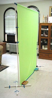 DIY Green Screen backdrop stand