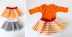 Celebrate BABY—TUTORIAL and PATTERN: little baby circle skirt | MADE #easterdress #easy