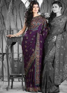 Beautiful beadwork on this saree. Love it to bits.