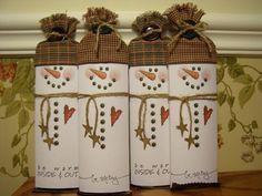 snowman candy bars - so cute! card, snowman candi, paper crafts, candi bar