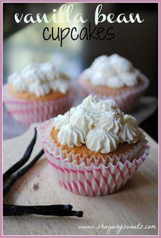 Vanilla Bean Cupcakes- best scratch white cake recipe ever!!!!