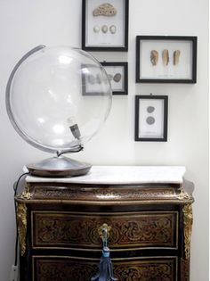 Make a lamp from a vintage globe.