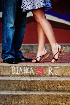 Chalk Talk engagement pic idea - Legs with namles