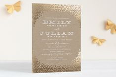 Gold Rush Foil-Pressed Wedding Invitations by annie clark at minted.com