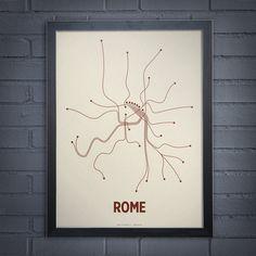 Fab.com | Rome Screenprint Newsprint