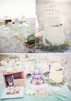 dessert tables, beaches, color, shabby chic, wedding blog, wedding cakes, beach weddings, floral designs, photography