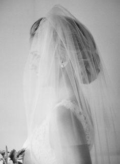 Classic bride via Jose Villa. Gorgeous and traditional pose.