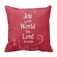 Joy to the World Christmas Pillows #Christmas #pillows