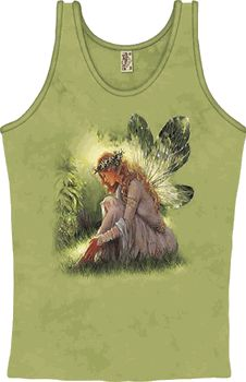 Green Winged Fairy Fashion Tank - pagan wiccan witchcraft magick ritual supplies