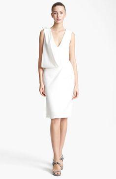Christopher Kane Asymmetrical Drape Crepe Dress