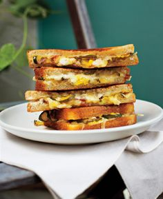 Grilled Ham and Cheese with Pickles