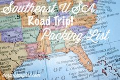 Summer 2013! Southeastern Road Trip -- here's a suggested itinerary and packing list.
